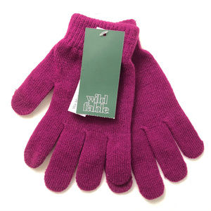 Wild Fable Womens Tech Touch Gloves Knit Purple